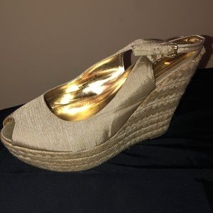 BAMBOO Shoes - TAN BAMBOO WEDGE HEELS *cheap*